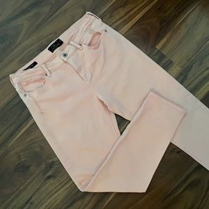 Lucky Brand - Brooke Capri Distressed Pink Jeans